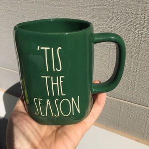 Rae dunn tis the season green mug